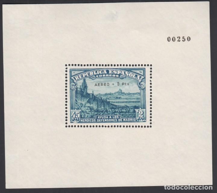 """ESPAÑA, 1938 EDIFIL Nº 760 (*), DEFENSA DE MADRID, HABILITACIÓN """" AEREO + 5 PTS"""" (Sellos - España - II República de 1.931 a 1.939 - Nuevos)"""