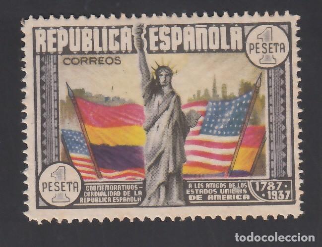 ESPAÑA, 1938 EDIFIL Nº 763 /*/, ANIVERSARIO DE LA CONSTITUCIÓN DE ESTADOS UNIDOS (Sellos - España - II República de 1.931 a 1.939 - Nuevos)