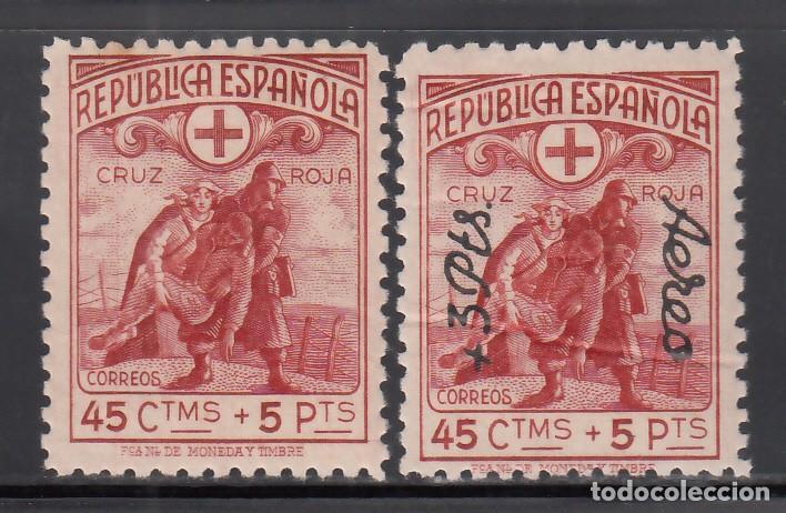 ESPAÑA, 1938 EDIFIL Nº 767, 798 /**/, CRUZ ROJA, SIN FIJASELLOS (Sellos - España - II República de 1.931 a 1.939 - Nuevos)