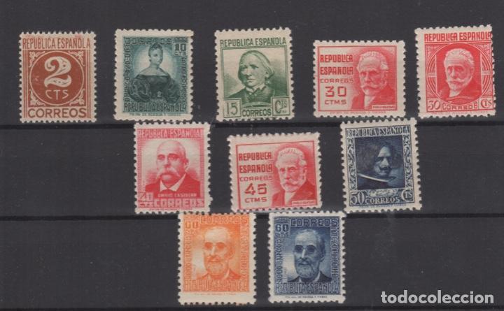 1936-38 PERSONAJES REPUBLICA ESPAÑOLA EDIFIL 731/740** MNH VC 42,00€ (Sellos - España - II República de 1.931 a 1.939 - Nuevos)