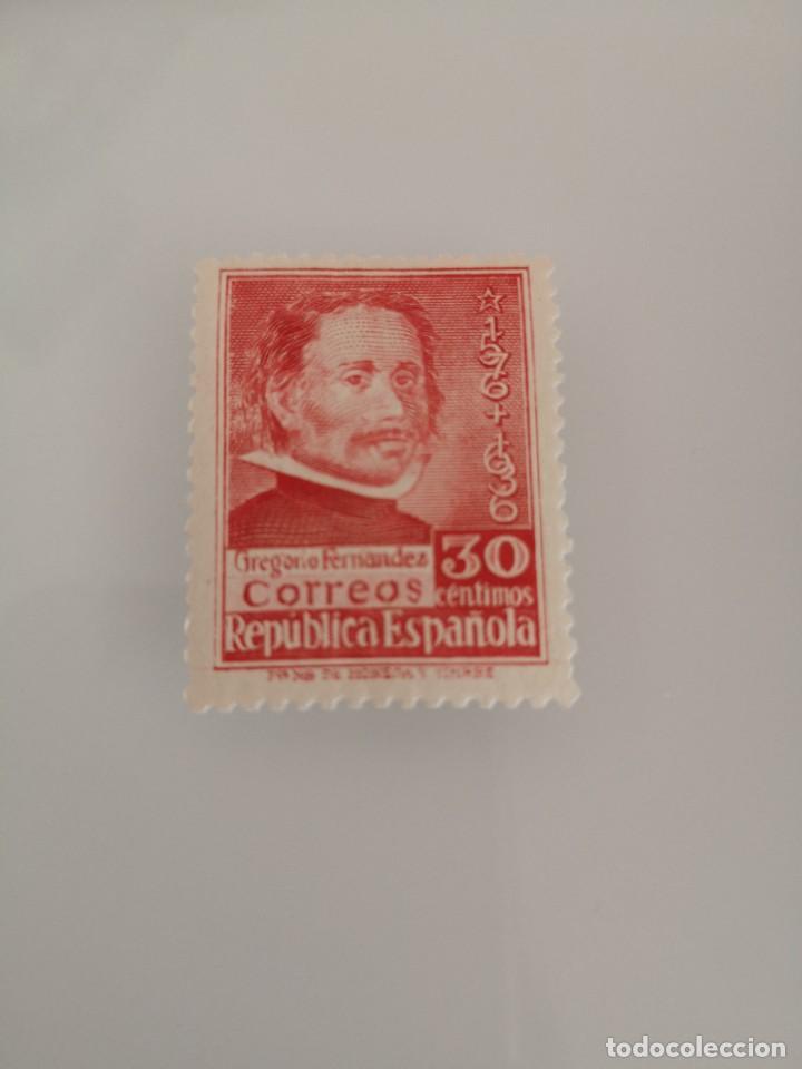 ESPAÑA EDIFIL 726 NUEVO II REPÚBLICA GREGORIO FERNÁNDEZ 1937 (Sellos - España - II República de 1.931 a 1.939 - Nuevos)