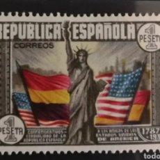 Sellos: ESPAÑA N°763 MH* CONSTITUCIÓN EE.UU (FOTOGRAFÍA REAL). Lote 262214010