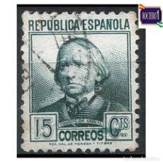 Sellos: ESPAÑA 1933-35. EDIFIL 683. PERSONAJES. USADO. Lote 262621280