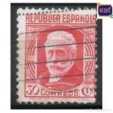 Sellos: ESPAÑA 1936-38. EDIFIL 734. CIFRAS Y PERSONAJES. USADO LEER. Lote 262625140