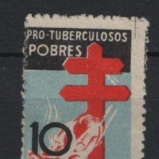 Sellos: TV_003.G1/ ESPAÑA EDIFIL 840 (*), 1937, PRO TUBERCULOSOS, CATALOGO 33€. Lote 263300225