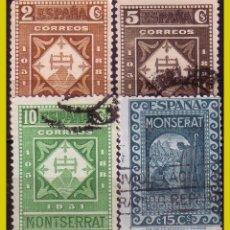 Francobolli: 1931 IX CENTENARIO FUNDACIÓN DE MONTSERRAT , EDIFIL Nº 637 A 640 (O). Lote 264539894