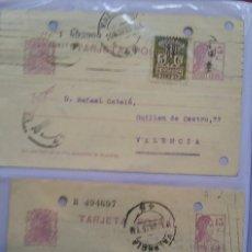 Sellos: DOS TAJETAS POSTALES 15CTS MATRONA Y AYUNTAMIENTO DE BARCELONA. Lote 264679374