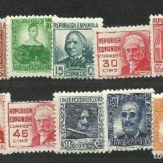 Sellos: SERIE DE PERSONAJES DE 1936/38 SIN CHARNELA.. Lote 264724059