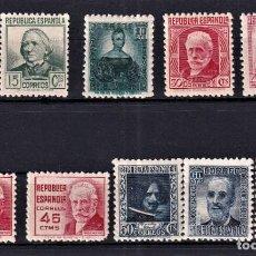 Selos: SELLOS ESPAÑA 1936/38 CIFRAS Y PERSONAJES EDIFIL 731/740 EN NUEVO V. DE CATALOGO 42 €. Lote 265197549