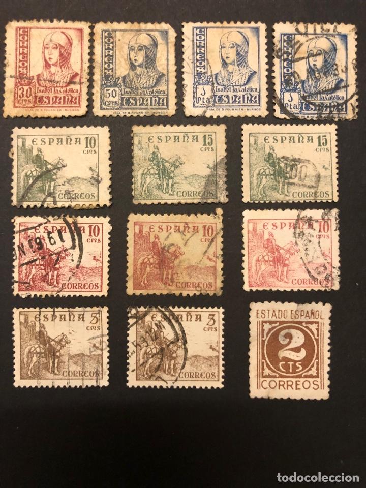 Sellos: Lote sellos y sobre - Cid e Isabel 1937 - 40 - Foto 3 - 265374139