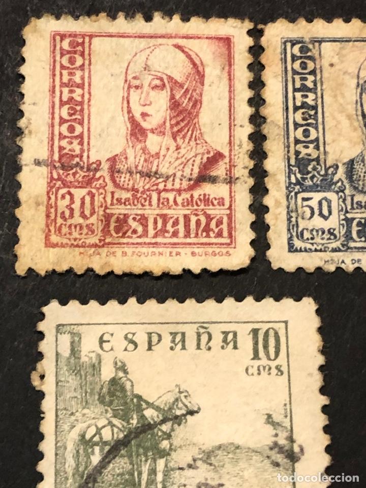 Sellos: Lote sellos y sobre - Cid e Isabel 1937 - 40 - Foto 4 - 265374139