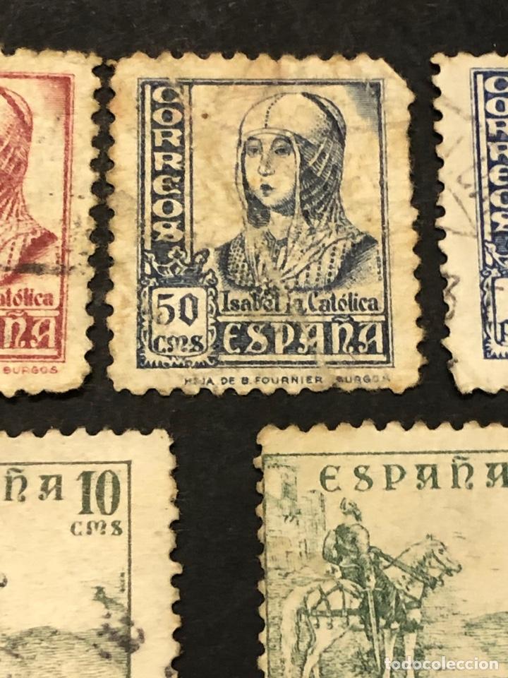 Sellos: Lote sellos y sobre - Cid e Isabel 1937 - 40 - Foto 5 - 265374139