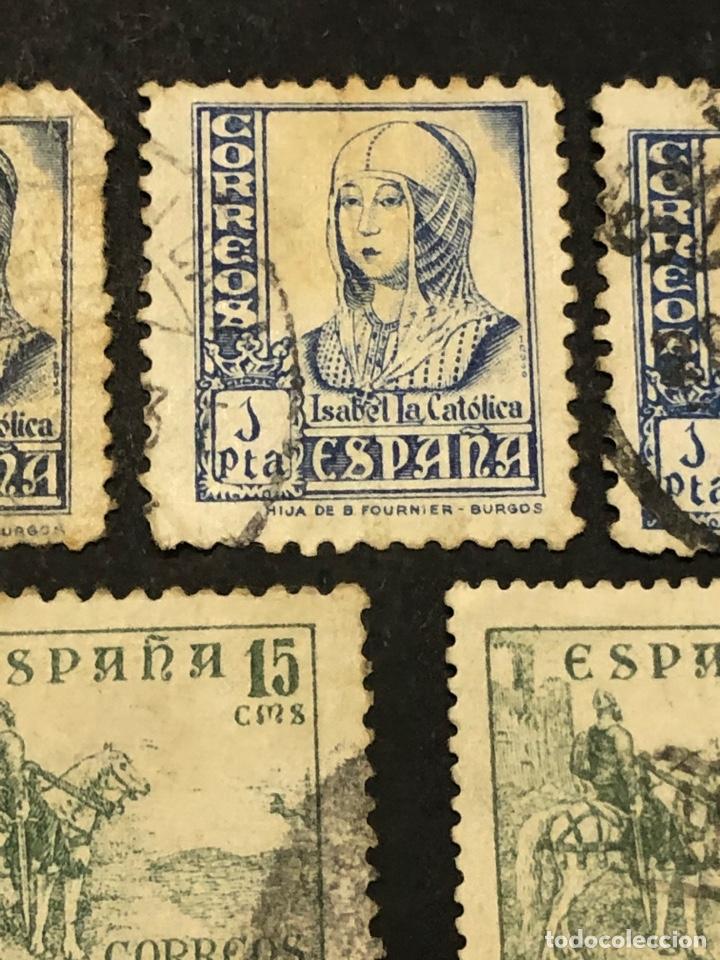 Sellos: Lote sellos y sobre - Cid e Isabel 1937 - 40 - Foto 6 - 265374139