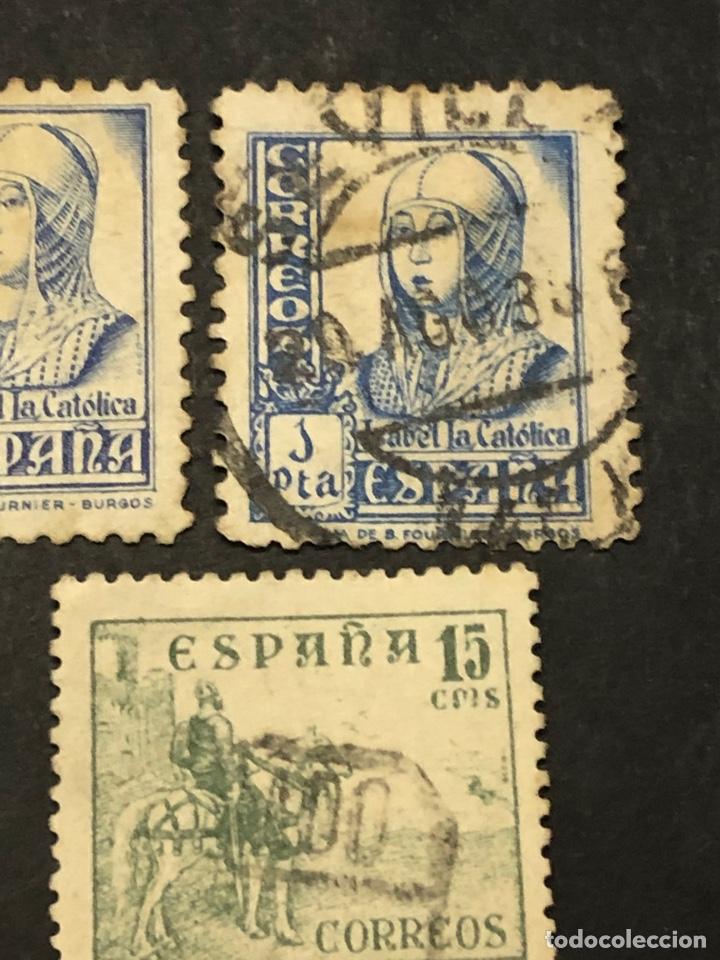 Sellos: Lote sellos y sobre - Cid e Isabel 1937 - 40 - Foto 7 - 265374139