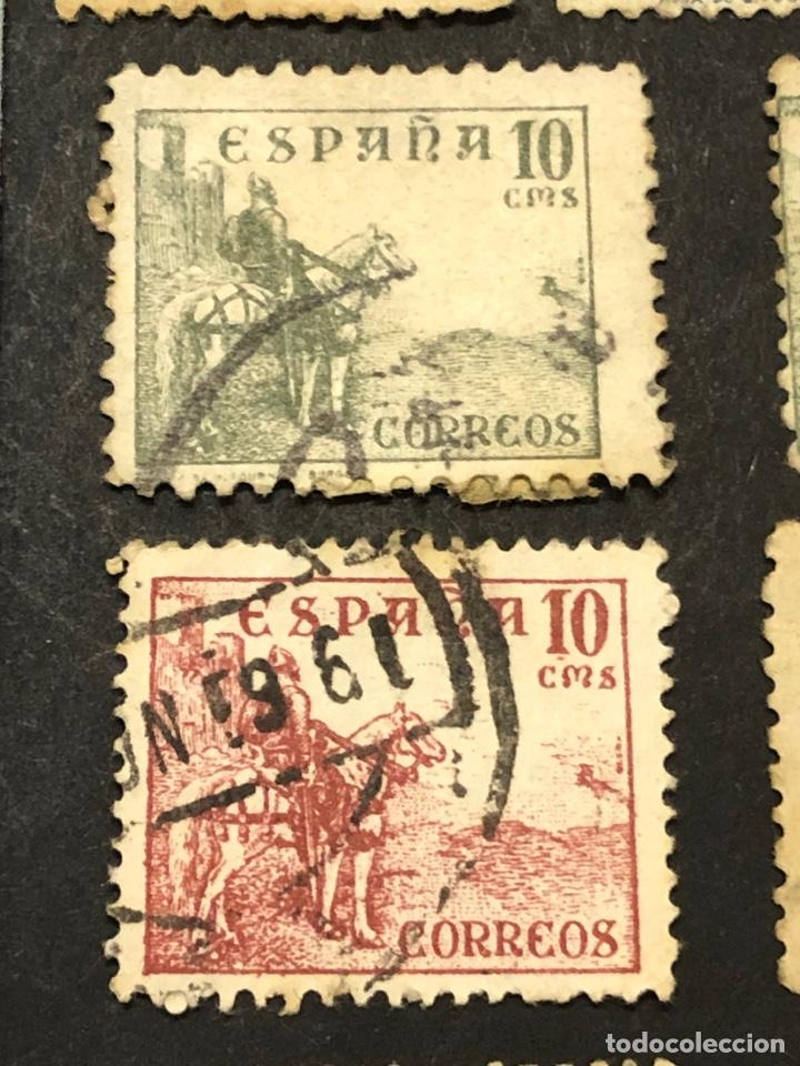 Sellos: Lote sellos y sobre - Cid e Isabel 1937 - 40 - Foto 8 - 265374139