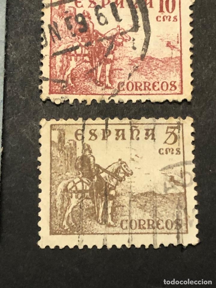Sellos: Lote sellos y sobre - Cid e Isabel 1937 - 40 - Foto 9 - 265374139
