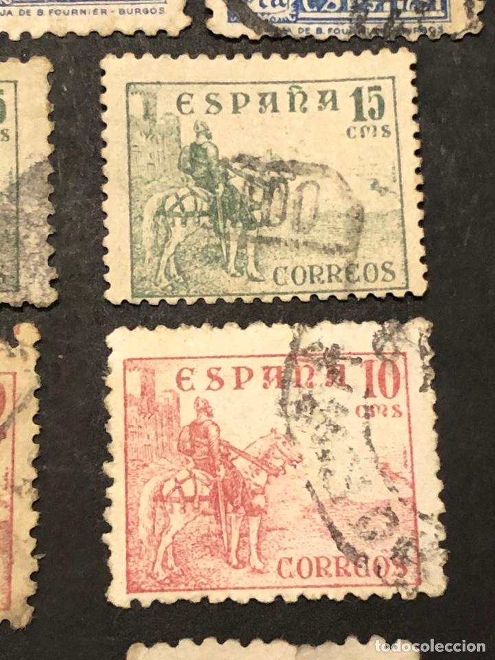 Sellos: Lote sellos y sobre - Cid e Isabel 1937 - 40 - Foto 13 - 265374139