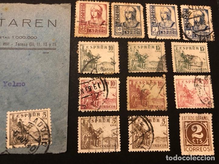 LOTE SELLOS Y SOBRE - CID E ISABEL 1937 - 40 (Sellos - España - II República de 1.931 a 1.939 - Usados)