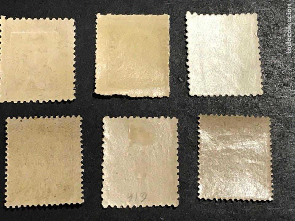 Sellos: Edifil 745 750 cifras de 1938, 5 nuevos sin fijasellos, el de 25 cts con fijasellos, ver fotos - Foto 2 - 265859414