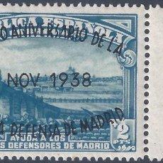 Sellos: EDIFIL 789 II ANIVERSARIO DE LA DEFENSA DE MADRID 1938 (VARIEDADES EN LA SOBRECARGA). LUJO. MNH **. Lote 266218583