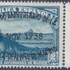 Sellos: EDIFIL 789 II ANIVERSARIO DE LA DEFENSA DE MADRID 1938 (VARIEDADES EN LA SOBRECARGA). LUJO. MNH **. Lote 266234553