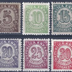 Sellos: EDIFIL 745-750 CIFRAS. 1938 (SERIE COMPLETA). MNH **. Lote 267598104