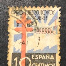Sellos: PRO TUBERCULOSOS 1938 CRUZ DE LORENA SANATORIO. Lote 267638954