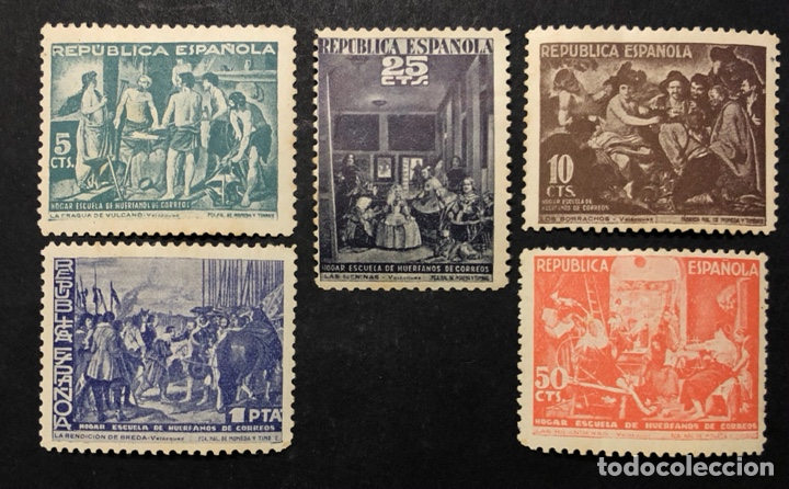 HUÉRFANOS DE CORREOS 1938 VELÁZQUEZ (Sellos - España - II República de 1.931 a 1.939 - Nuevos)