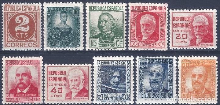 EDIFIL 731-740 CIFRA Y PERSONAJES 1936-1938 (S.COMPLETA). CENTRADO DE LUJO. V.CATÁLOGO: 63 €. MNH ** (Sellos - España - II República de 1.931 a 1.939 - Nuevos)