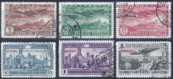 EDIFIL 630-635 III CONGRESO DE LA UNIÓN POSTAL PANAMERICANA 1931 (COMPLETA). HAB. OFICIAL. (Sellos - España - II República de 1.931 a 1.939 - Usados)
