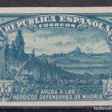 Sellos: 1938 EDIFIL 757** NUEVO SIN CHARNELA. SIN DENTAR. DEFENSA DE MADRID (720-3). Lote 268456969