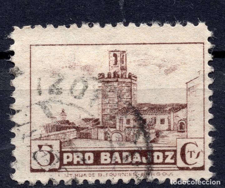 ESPAÑA, , 1936-1939 VIÑETA BENEFICENCIA BADAJOZ 1 (Sellos - España - II República de 1.931 a 1.939 - Usados)