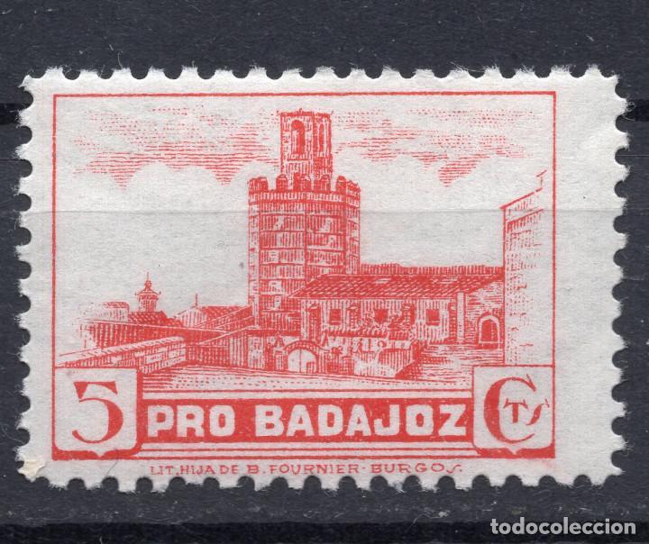 ESPAÑA, , 1936-1939 VIÑETA BENEFICENCIA BADAJOZ 2 (Sellos - España - II República de 1.931 a 1.939 - Usados)