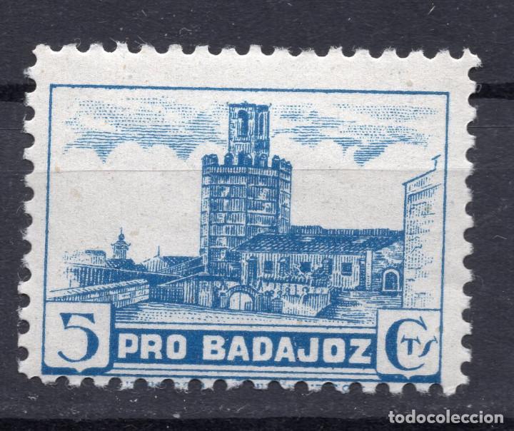 ESPAÑA, , 1936-1939 VIÑETA BENEFICENCIA BADAJOZ 3 (Sellos - España - II República de 1.931 a 1.939 - Usados)