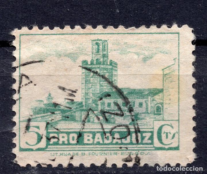 ESPAÑA, , 1936-1939 VIÑETA BENEFICENCIA BADAJOZ 4 (Sellos - España - II República de 1.931 a 1.939 - Usados)