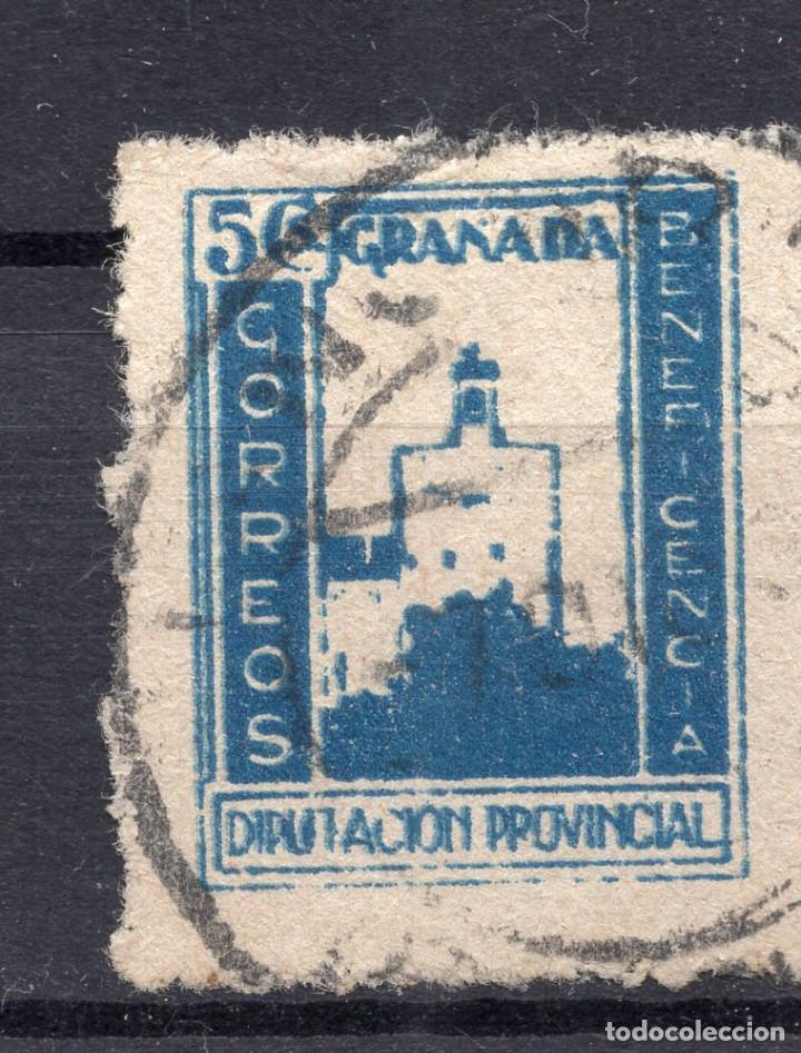 ESPAÑA, , 1936-1939 VIÑETA BENEFICENCIA GRANADA 2 (Sellos - España - II República de 1.931 a 1.939 - Usados)