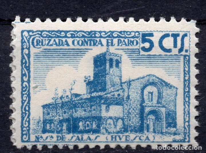 ESPAÑA, , 1936-1939 VIÑETA BENEFICENCIA N. SRA. DE SALAS 1 (Sellos - España - II República de 1.931 a 1.939 - Usados)