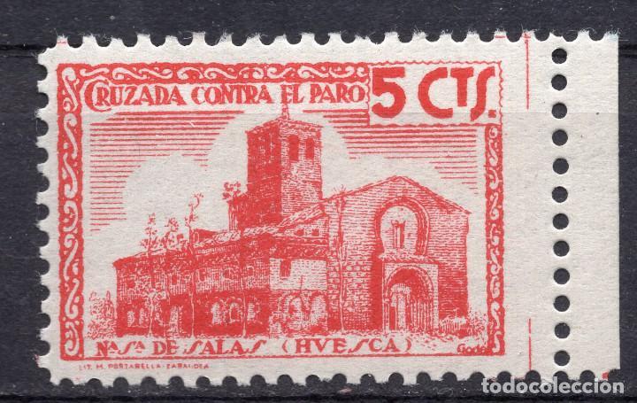 ESPAÑA, , 1936-1939 VIÑETA BENEFICENCIA N. SRA. DE SALAS 2 (Sellos - España - II República de 1.931 a 1.939 - Usados)