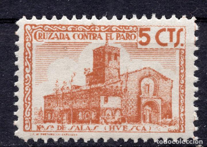 ESPAÑA, , 1936-1939 VIÑETA BENEFICENCIA N. SRA. DE SALAS 4 (Sellos - España - II República de 1.931 a 1.939 - Usados)