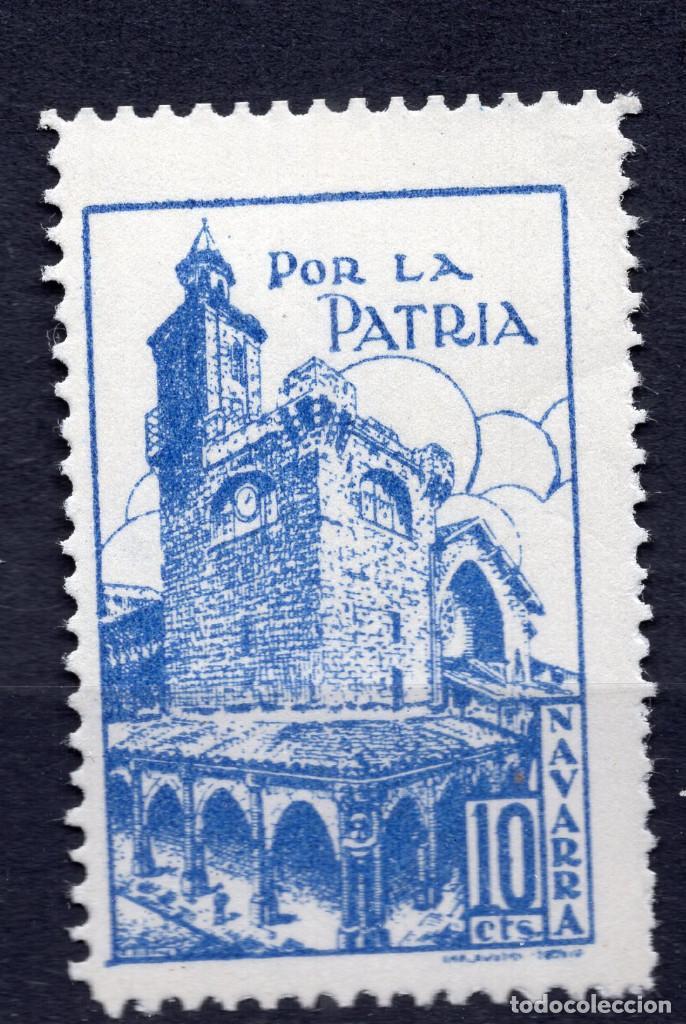 ESPAÑA, , 1936-1939 VIÑETA BENEFICENCIA NAVARRA 1 (Sellos - España - II República de 1.931 a 1.939 - Usados)