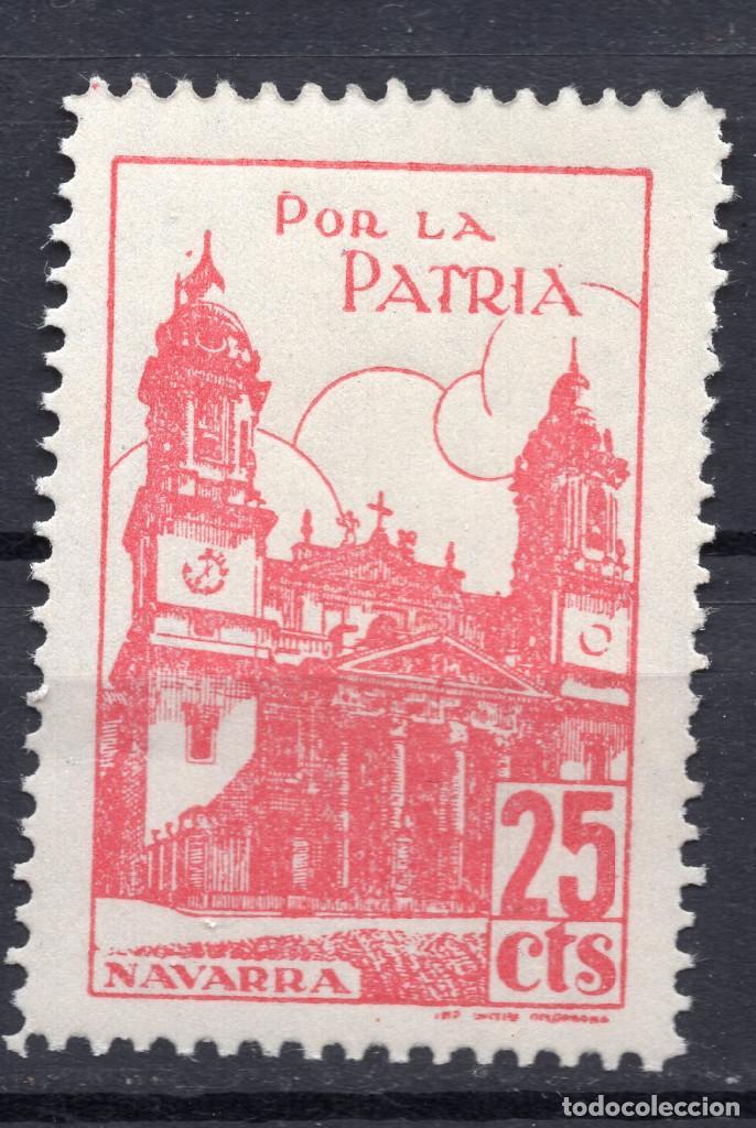 ESPAÑA, , 1936-1939 VIÑETA BENEFICENCIA NAVARRA 2 (Sellos - España - II República de 1.931 a 1.939 - Usados)