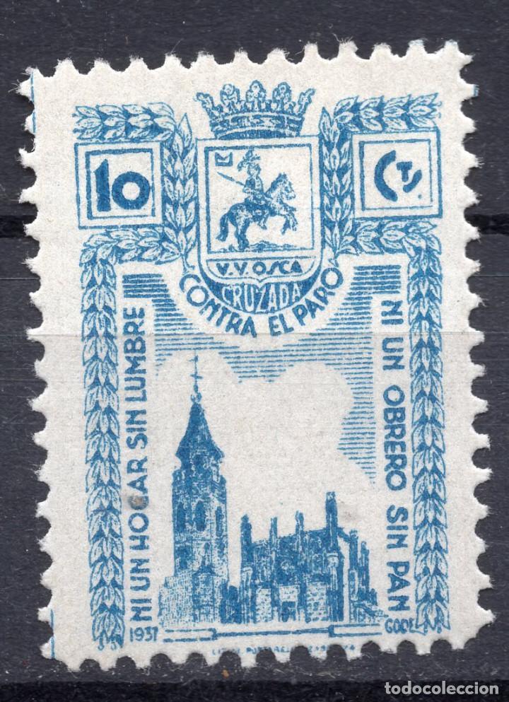 ESPAÑA, , 1936-1939 VIÑETA CRUZADA CONTRA EL PARO 1 (Sellos - España - II República de 1.931 a 1.939 - Usados)