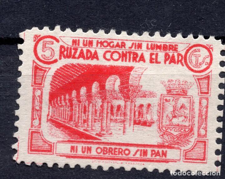 ESPAÑA, , 1936-1939 VIÑETA CRUZADA CONTRA EL PARO 3 (Sellos - España - II República de 1.931 a 1.939 - Usados)