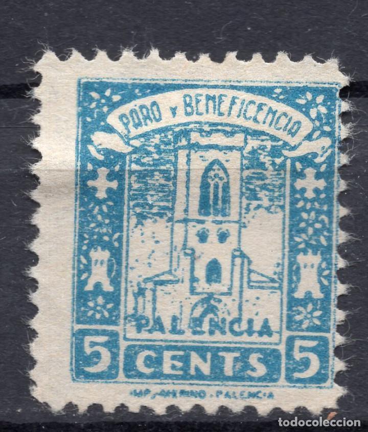 ESPAÑA, , 1936-1939 VIÑETA BENEFICENCIA PALENCIA 1 (Sellos - España - II República de 1.931 a 1.939 - Usados)
