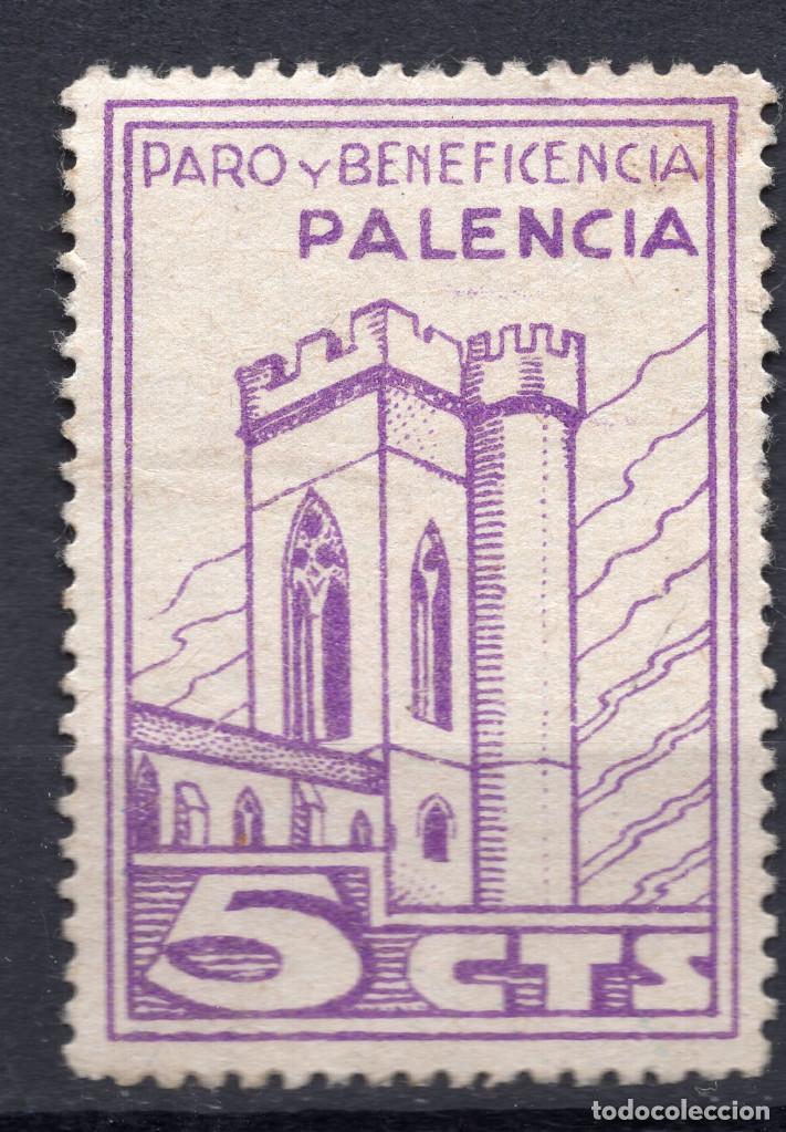ESPAÑA, , 1936-1939 VIÑETA BENEFICENCIA PALENCIA 2 (Sellos - España - II República de 1.931 a 1.939 - Usados)