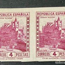Sellos: ESPAÑA 1932 ED 674S ** EN PAREJA. Lote 268817364