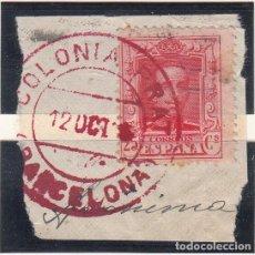 Sellos: MATASELLOS EN FRAGMENTO DE LA COLONIA PRAT - PUIGREIG (BARCELONA). Lote 268819529