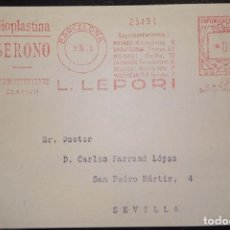 Sellos: 1935.- BARCELONA A SEVILLA. TARJETA POSTAL L.LEPORI. Lote 269805208