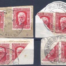Sellos: EDIFIL 734 PABLO IGLESIAS 1936 (VARIEDAD..SELLOS BISECTADOS EN CUATRO FRAGMENTOS).. Lote 270121383