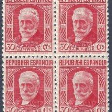Sellos: EDIFIL 734 PABLO IGLESIAS 1936 (BLOQUE DE 4) EXCELENTE CENTRADO. MNH ** (SALIDA: 0,01 €). Lote 270201398